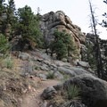 The first mile on Three Sisters Trail is surrounded by these giant rock formations. Some climbing/bouldering areas are available in this park of the park- Alderfer/Three Sisters Park Loop