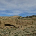 The trail winds down through a broad opening that quickly narrows.- Owl Canyon hike