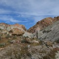 At the end of the canyon, views of the bright blue sky emerge.- Owl Canyon hike
