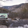 Scenic viewpoint at the parking lot.- Kaaterskill Falls Snowshoe