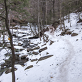 Several sections of rock stairs.- Kaaterskill Falls Snowshoe