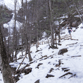 First site of the waterfall.- Kaaterskill Falls Snowshoe