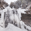 The base of Kaaterskill Falls.- Kaaterskill Falls Snowshoe