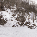 Looking back to the trail from the mid-level.- Kaaterskill Falls Snowshoe