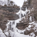 Kaaterskill Falls is New York State's highest two-tier waterfall.- Kaaterskill Falls Snowshoe