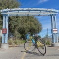 Entrance to the Sacramento Northern Bikeway.- Sacramento Northern Bikeway