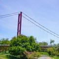 Guy West Bridge leads into California Sacramento State University. You can take this bridge to get back across the river toward East Sacramento.- Sacramento Northern Bikeway