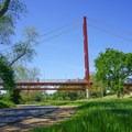 Pathway under the Guy West Bridge.- Sacramento Northern Bikeway