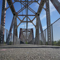 The first American River bridge crossing from the Sacramento Northern Bikeway entrance.- Sacramento Northern Bikeway