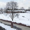 Parking lot near the sledding area.- Marlboro Elementary School Sledding