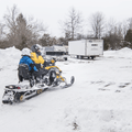 Snowmobiling is allowed on many trails.- Scofield Lane + Maple Ave Loop