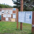 Information signs in the Driftwood II Campground.- Driftwood II Campground