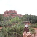 The junction with the Eazy Breezy Trail just down the hill from the trailhead.- Cathedral Rock
