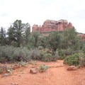 Cathedral Rock (4,967 ft) from the Cathedral Rock Trail.- Cathedral Rock