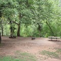 Campsites at Manzanita are very close together.- Manzanita Campground