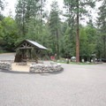 The entrance to Manzanita Campground, looking north.- Manzanita Campground