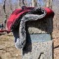 A post denotes the intersection with directions and distances for both sections of trail.- Compton Peak