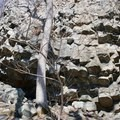 The left-center side of the formation.- Compton Peak