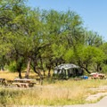 "One of the five ""developed"" sites at Coon Bluff.- Coon Bluff Campground"