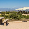 A shaded playground is available in the campground.- McDowell Mountain Campground