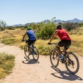 Bike use is particularly heavy on the Pemberton section of the trail.- Scenic Trail