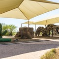 Shaded playground in the campground.- McDowell Mountain Regional Park