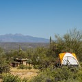 Tent site at the Ironwood picnic area.- McDowell Mountain Regional Park