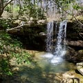 One of the many small waterfalls along the trail.- Fiery Gizzard Trail