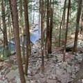 Short but steep scramble down to the base of the falls.- Foster Falls