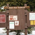 Trailhead access for Jones Pass.- Jones Pass