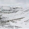 Looking into Jones Pass from the Continental Divide.- Jones Pass