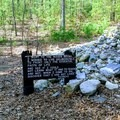 Cairn at Thoreau's cabin site.- Walden Pond + Adams Woods