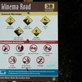 Signage at the access.- Winema Beach