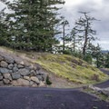 Paved road on the other side.- Mount Grant Preserve