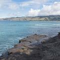 Looking across the bay toward Hawaii Kai, Niu Valley and Aina Haina.- China Walls + Koko Kai Beach Park