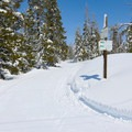 Skiing the Stagecoach Trail.- Stagecoach Trail