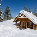 Several huts stand throughout the resort in case skiers need to take a quick break.- Royal Gorge Cross Country Ski Resort
