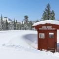 A warming hut along the trails.- Royal Gorge Cross Country Ski Resort