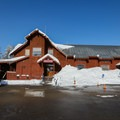 The outside of Royal Gorge's Summit Station lodge.- Royal Gorge Cross Country Ski Resort