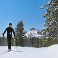Skiing with an alpine backdrop.- Royal Gorge Cross Country Ski Resort