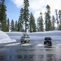 Winter parking at the park's southwest entrance.- Sulphur Works Snowshoe