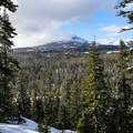 Views of Brokeoff Mountain from the top of Christie Hill.- Christie Hill Snowshoe