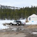 Parking available for ski routes surrounding the yurt.- Hope Valley Outdoors Outfitters