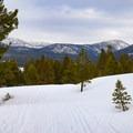Views open up to Lake Tahoe's southern mountain peaks.- Secret Meadow
