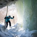 Entering the ice caves.- Smugglers Notch