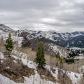 Looking up Big Cottonwood from the long approach.- Mount Raymond Backcountry Skiing