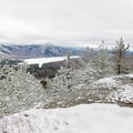 There are several views in most directions from the summit.- Silver Lake Mountain