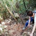 Scrambling is a part of this hike.- Monte Circeo