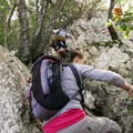 Portions of the hike require several points of contact.- Monte Circeo