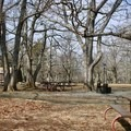 Communal area for eating and relaxing past the visitor center.- Big Meadows Campground